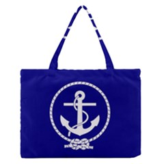 Anchor Flag Blue Background Zipper Medium Tote Bag by Celenk