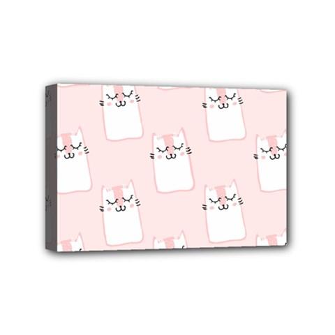 Pattern Cat Pink Cute Sweet Fur Mini Canvas 6  x 4