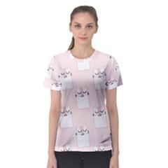 Pattern Cat Pink Cute Sweet Fur Women s Sport Mesh Tee