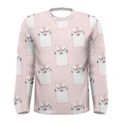 Pattern Cat Pink Cute Sweet Fur Men s Long Sleeve Tee
