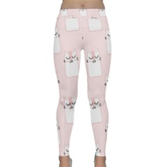 Pattern Cat Pink Cute Sweet Fur Classic Yoga Leggings