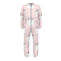 Pattern Cat Pink Cute Sweet Fur OnePiece Jumpsuit (Kids)
