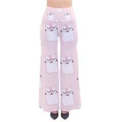 Pattern Cat Pink Cute Sweet Fur Pants