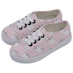 Pattern Cat Pink Cute Sweet Fur Kids  Classic Low Top Sneakers