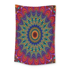 Kaleidoscope Mandala Pattern Small Tapestry by Celenk