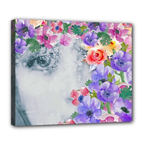 Flower Girl Deluxe Canvas 24  X 20   by 8fugoso