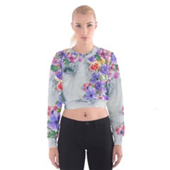 Flower Girl Cropped Sweatshirt