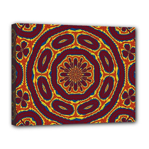 Geometric Tapestry Canvas 14  X 11  by linceazul