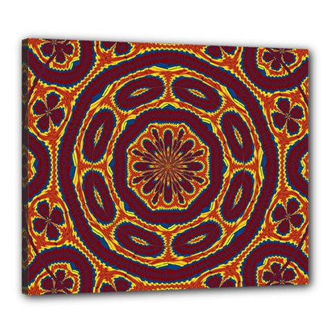 Geometric Tapestry Canvas 24  X 20  by linceazul