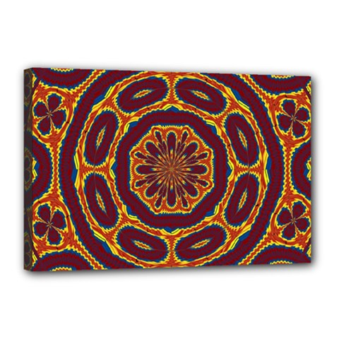 Geometric Tapestry Canvas 18  X 12  by linceazul