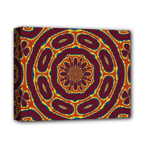 Geometric Tapestry Deluxe Canvas 14  X 11  by linceazul