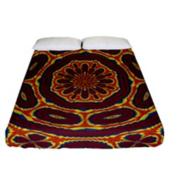 Geometric Tapestry Fitted Sheet (queen Size) by linceazul