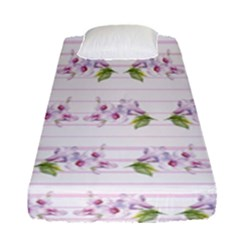 Floral Pattern Fitted Sheet (single Size) by SuperPatterns