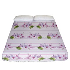 Floral Pattern Fitted Sheet (california King Size) by SuperPatterns
