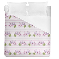 Floral Pattern Duvet Cover (queen Size) by SuperPatterns