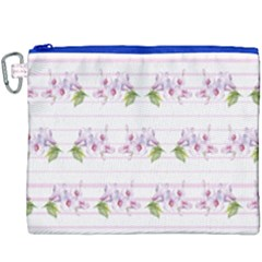 Floral Pattern Canvas Cosmetic Bag (xxxl) by SuperPatterns