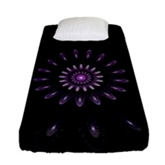 Fractal Mandala Delicate Pattern Fitted Sheet (single Size) by Celenk