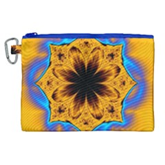 Digital Art Fractal Artwork Flower Canvas Cosmetic Bag (xl) by Celenk