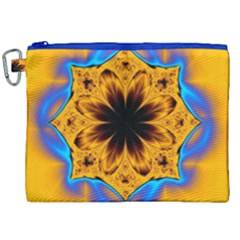 Digital Art Fractal Artwork Flower Canvas Cosmetic Bag (xxl) by Celenk