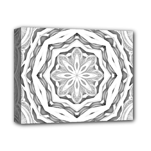 Mandala Pattern Floral Deluxe Canvas 14  X 11  by Celenk