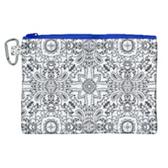 Mandala Pattern Line Art Canvas Cosmetic Bag (xl) by Celenk