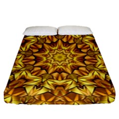 Abstract Antique Art Background Fitted Sheet (queen Size)