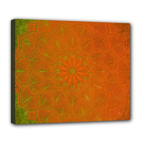 Background Paper Vintage Orange Deluxe Canvas 24  X 20   by Celenk
