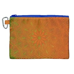Background Paper Vintage Orange Canvas Cosmetic Bag (xl) by Celenk