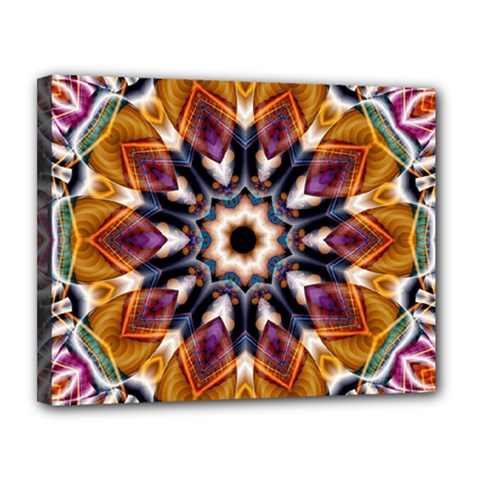 Kaleidoscope Pattern Kaleydograf Canvas 14  X 11  by Celenk