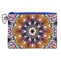 Kaleidoscope Pattern Kaleydograf Canvas Cosmetic Bag (xl) by Celenk