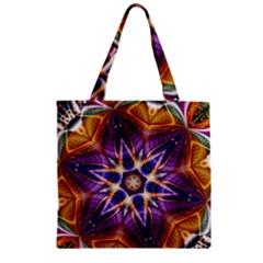 Kaleidoscope Pattern Kaleydograf Zipper Grocery Tote Bag by Celenk