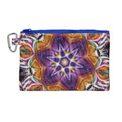 Kaleidoscope Pattern Kaleydograf Canvas Cosmetic Bag (large) by Celenk