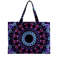 Kaleidoscope Shape Abstract Design Zipper Mini Tote Bag by Celenk