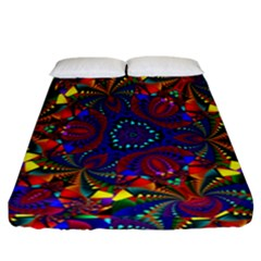 Kaleidoscope Pattern Ornament Fitted Sheet (california King Size) by Celenk