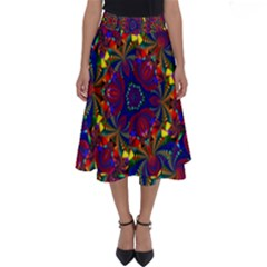 Kaleidoscope Pattern Ornament Perfect Length Midi Skirt