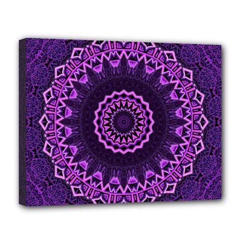 Mandala Purple Mandalas Balance Canvas 14  X 11  by Celenk
