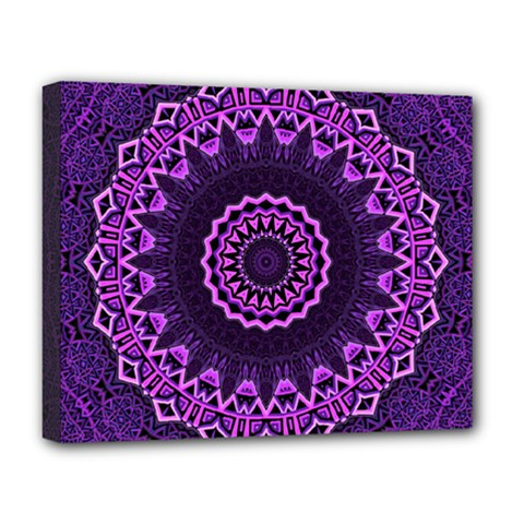 Mandala Purple Mandalas Balance Deluxe Canvas 20  X 16   by Celenk