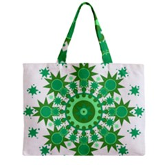 Mandala Geometric Pattern Shapes Zipper Mini Tote Bag by Celenk