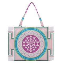 Mandala Design Arts Indian Zipper Medium Tote Bag by Celenk