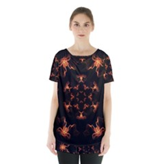 Mandala Fire Mandala Flames Design Skirt Hem Sports Top