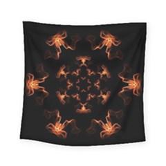 Mandala Fire Mandala Flames Design Square Tapestry (small) by Celenk