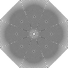 Kaleidoscope Pattern Kaleydograf Hook Handle Umbrellas (large) by Celenk