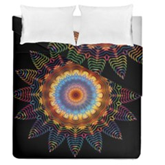 Colorful Prismatic Chromatic Duvet Cover Double Side (queen Size) by Celenk