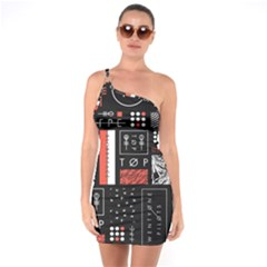 Twenty One Pilots Poster One Soulder Bodycon Dress by Onesevenart