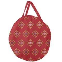 Pattern Background Holiday Giant Round Zipper Tote by Celenk