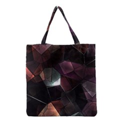Crystals Background Design Luxury Grocery Tote Bag by Celenk