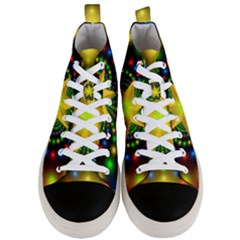 Christmas Star Fractal Symmetry Men s Mid Top Canvas Sneakers