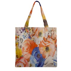 Texture Fabric Textile Detail Grocery Tote Bag by Celenk