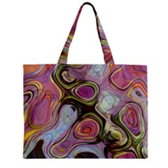 Retro Background Colorful Hippie Zipper Mini Tote Bag by Celenk