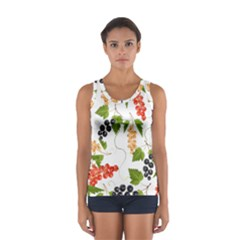 Juicy Currants Sport Tank Top  by TKKdesignsCo